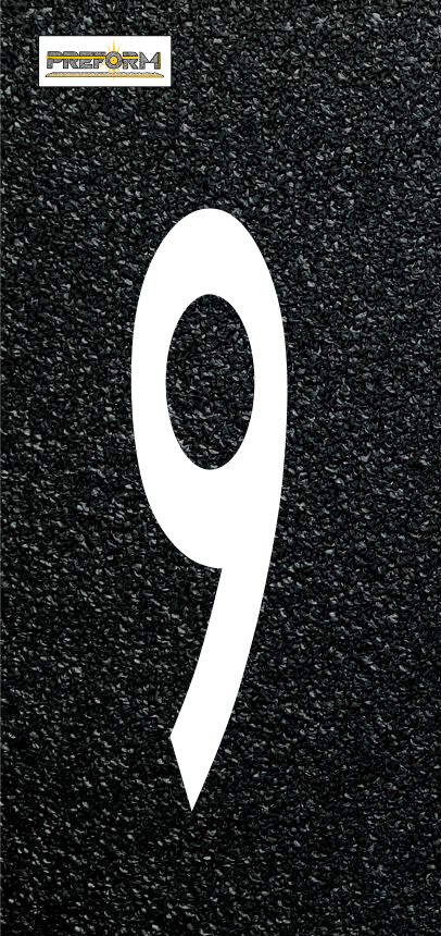 "Preformed Thermoplastic Individual Numbers 8"" Pavement Marking"