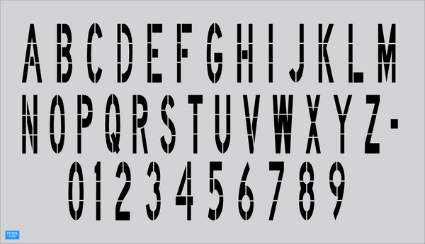 "48"" x 12"" DOT Individual Alphabet/Number Stencil 1 pc"