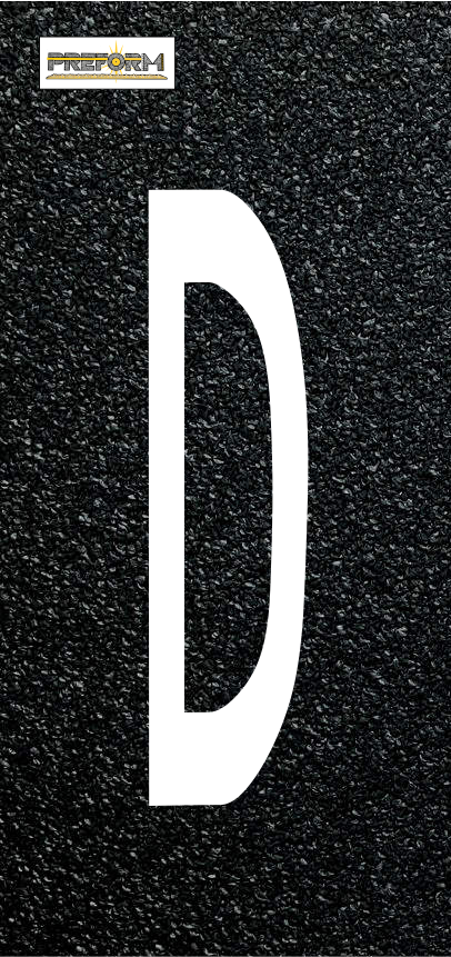 "Preformed Thermoplastic Individual Letters  10"" Pavement Marking"