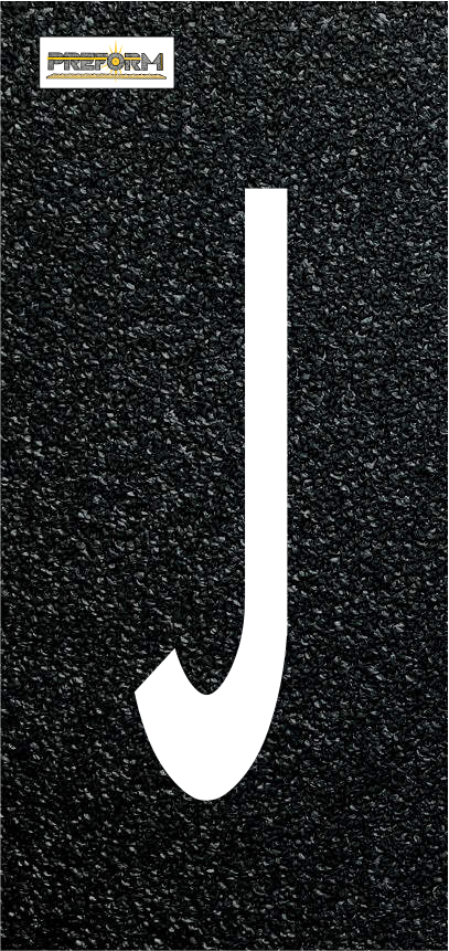"Preformed Thermoplastic Individual Letters  8"" Pavement Marking"