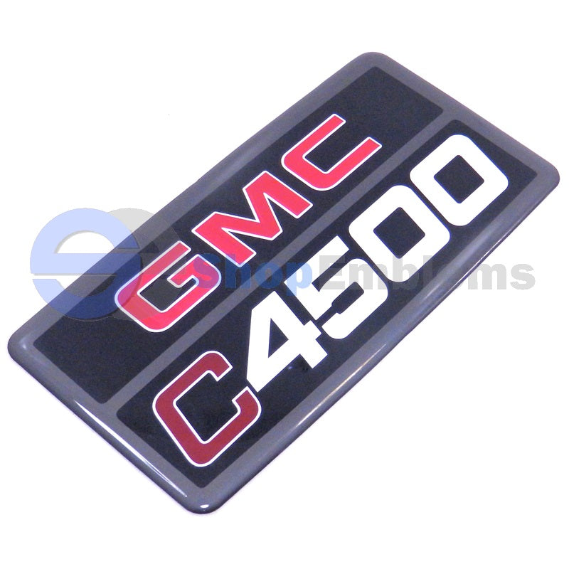 03 04 05 06 07 08 09 GMC Topkick C4500 Emblem Badge Nameplate Decal New OEM 150129XX 1PC