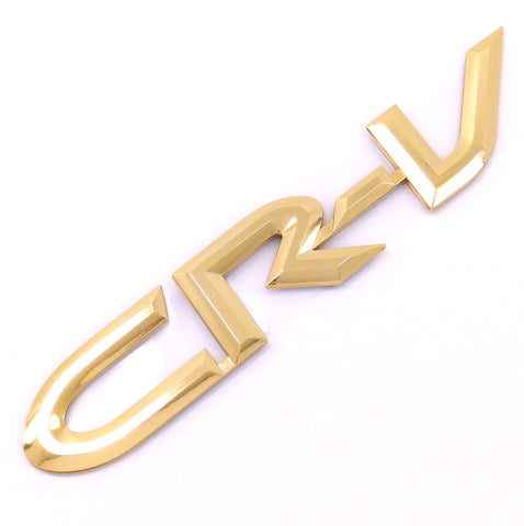 Honda CR-V Rear Door Gold Script Emblem Decal Badge 97-01 NOS