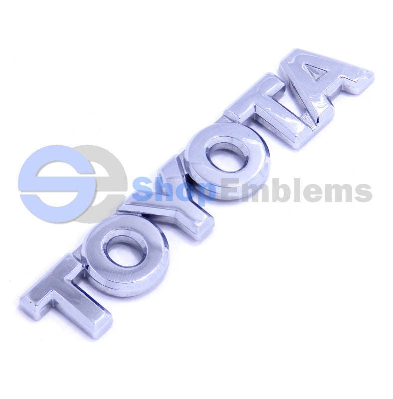 03 04 05 06 07 08 TOYOTA COROLLA REAR TRUNK SCRIPT EMBLEM BADGE NAMEPLATE CHROME