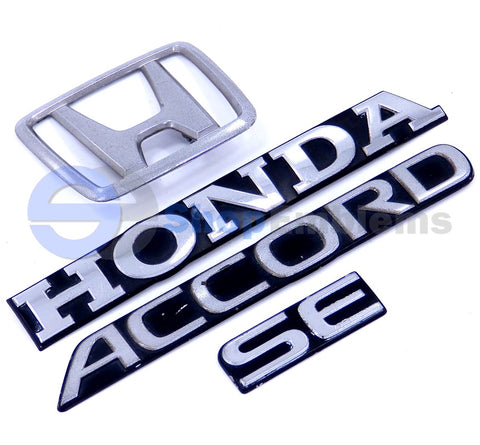 Honda Accord SE 2DR 4DR OEM Trunk Emblem Set OEM Rear Script Logo Deck Lid Genuine