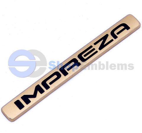 02 03 04 Subaru Impreza Gold Trunk Lid Emblem Nameplate Badge OEM Rear Script