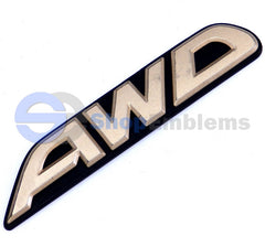 00-04 Subaru Legacy AWD Emblem Wagon 4dr Gold Ornament Rear Nameplate OE Logo