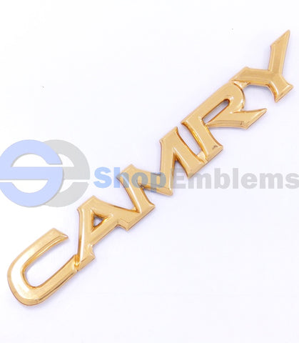 97 98 99 00 01 Toyota Camry Gold Trunk Emblem Logo Badge OEM Rear Script Nameplate