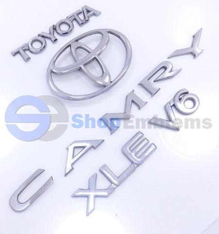 95 96 Toyota Camry XLE V6 Rear Trunk Lid Emblem Set Letters OEM Nameplate Badge