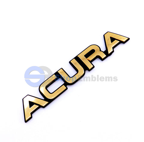 91 92 93 94 95 ACURA LEGEND TRUNK LID GOLD SCRIPT EMBLEM NAMEPLATE BADGE OEM