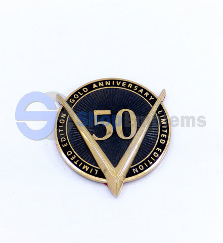 92 93 94 CADILLAC GOLD ANNIVERSARY 50 LIMITED EMBLEM NAMEPLATE HERITAGE EDITION OEM DEVILLE