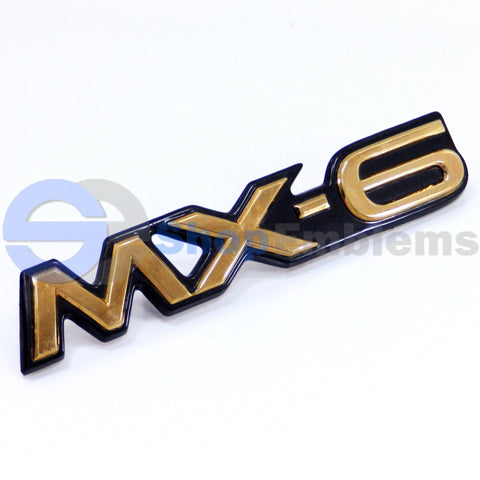 93 94 95 96 97 MAZDA MX-6 TRUNK LID GOLD EMBLEM NAMEPLATE SCRIPT BADGE OEM REAR MX6