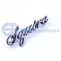 72 73 74 FORD SQUIRE EMBLEM OEM NAMEPLATE BADGE VINTAGE 1PC NEW OLD STOCK STATION WAGON