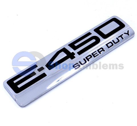06 07 08 09 10 Ford Econoline E-450 Super Duty Fender Back Door Emblem Nameplate Badge OEM 1pc E450
