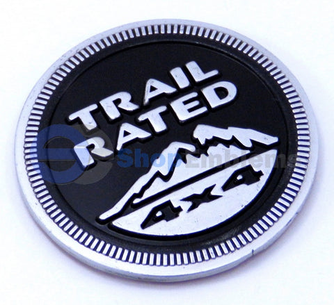 Jeep Trail Rated Black 1PC Emblems Badge logo Aluminum Nameplate Grand Cherokee 4x4