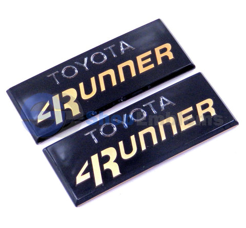 84 85 86 87 88 89 Toyota 4Runner Pillar Cab Emblem Gold Badge Side Badge 4WD SR5