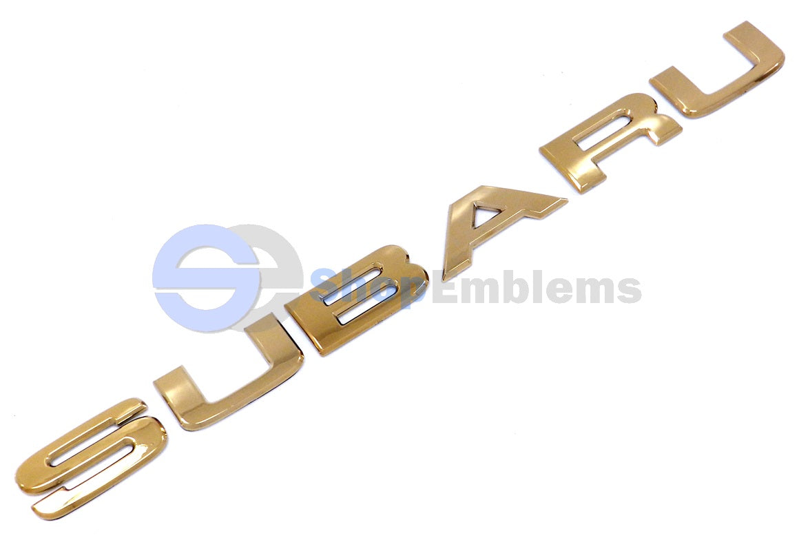 98 99 00 01 02 Subaru Forester Rear Trunk Emblem Liftgate Letters New Hatch Gold
