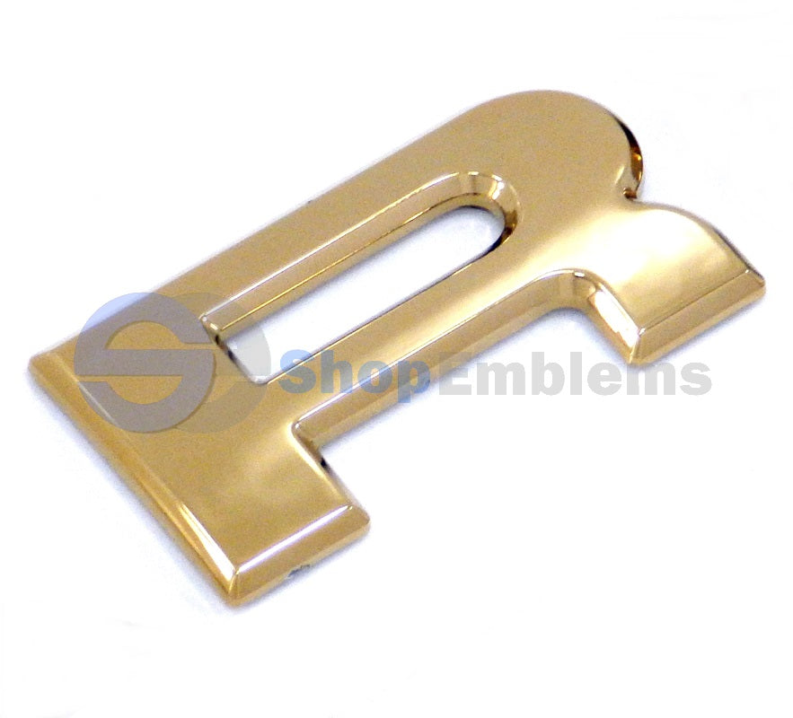 98 99 00 01 02 Subaru Forester Rear Trunk Emblem Liftgate Letter R New Hatch Gold