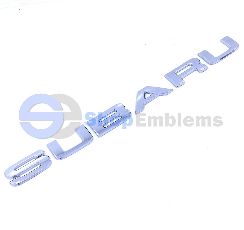 03 04 05 Subaru Forester Rear Trunk Emblem Liftgate Letters New Hatch X XS Logo