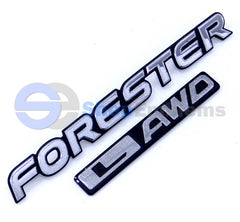 01 02 Subaru Forester L AWD Liftgate Trunk Emblem Script Nameplate Badge OEM