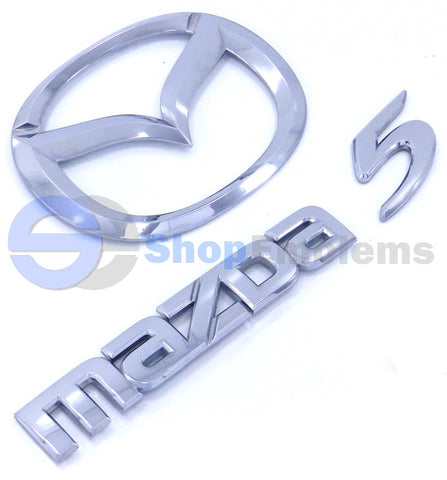 06 07 08 09 10 Mazda 5 Liftgate Trunk Lid Back Door Emblem Nameplate Logo Script Badge OEM