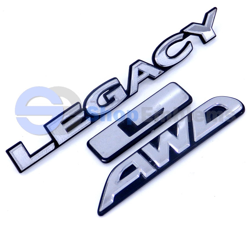 00-04 Subaru Legacy L Trunk Lid Emblem AWD Script Badge Nameplate OEM Rear