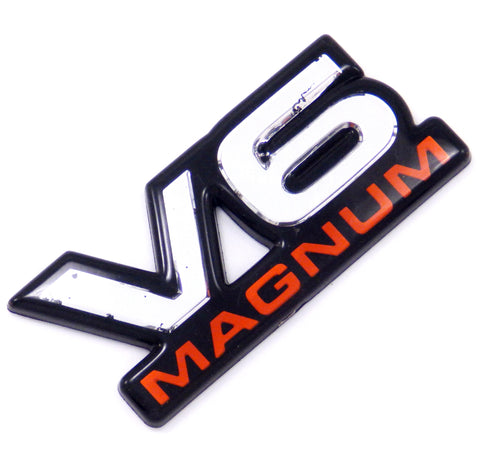98-02 DODGE V6 MAGNUM DOOR FENDER EMBLEM RAM DAKOTA DURANGO VAN NAMEPLATE BADGE