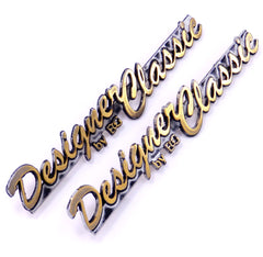 83-89 CADILLAC DESIGNER EDITION BY E & G GOLD PILLAR SAIL EMBLEM NAMEPLATE