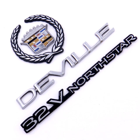 00-01 CADILLAC DEVILLE TRUNK ORNAMENT LOGO BADGE CREST 32V MASCOT OEM EMBLEMS
