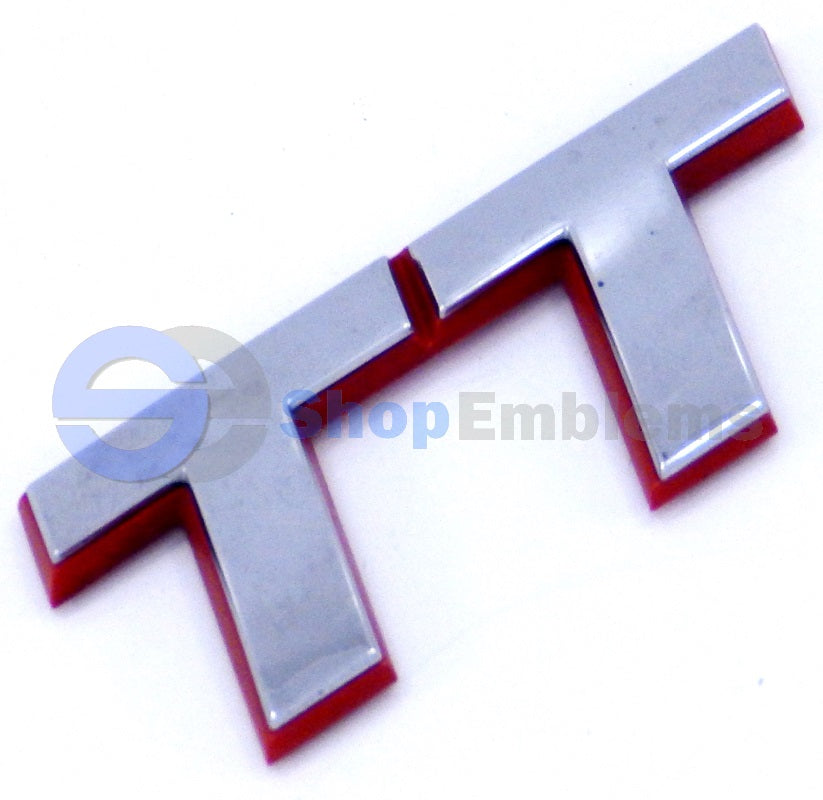 98 99 00 01 02 03 04 05 06 Audi TT Rear Emblem Logo Badge OEM Letter Red