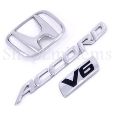 HONDA ACCORD V6 2DR 4DR GENUINE REAR TRUNK BADGE 98-02