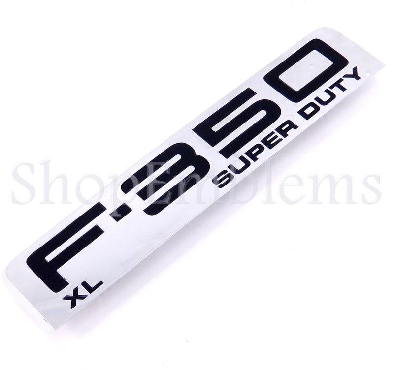 FORD F-350 SUPER DUTY XL SIDE FENDER EMBLEM DECAL BADGE 05-07 NOS