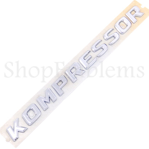 MERCEDES-BENZ SLK230 KOMPRESSOR FENDER EMBLEM 98-04 BADGE