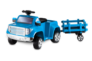 Heavy Hauling Pick-Up with Tow Along Trailer - Blue