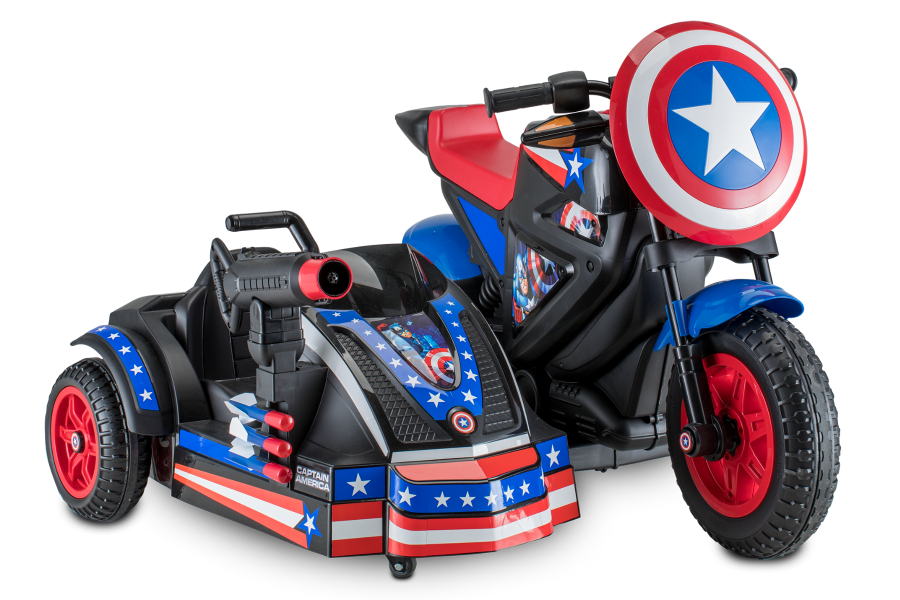 Marvel Captain America Motorcycle And Side Car Kid Traxrhkidtraxtoys: American Motorcycle Sidecars At Cicentre.net