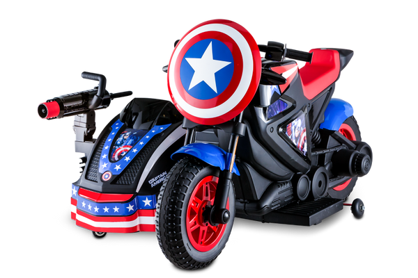 Marvel Captain America Motorcycle And Side Car Kid Trax