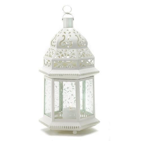 Large White Moroccan Lantern - Handbags Specialist Headquarter