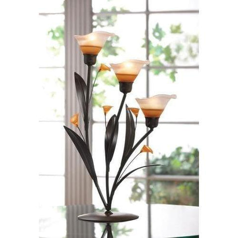 Amber Lilies Tealight Holder - Handbags Specialist Headquarter