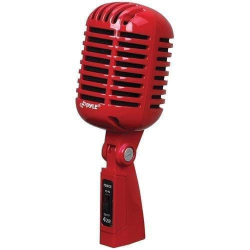 Pyle Pro Classic Retro-style Dynamic Vocal Microphone (red) (pack of 1 Ea) - Handbags Specialist Headquarter