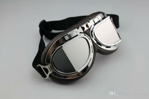 Aviator Pilot Cruiser Motorcycle Scooter ATV Goggle Eyewear - Handbags Specialist Headquarter
