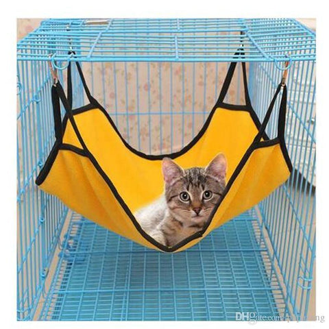 Cat Hammock Hanging Soft Fleece Hamster Rabbit Cage Beds - Handbags Specialist Headquarter