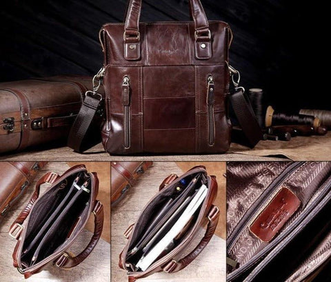 Cobbler Legend Genuine Leather Men Bag Cowskin Leather designer Handbags 2018 Casual Business iPad Tablet Shoulder Messenger Bag - Handbags Specialist Headquarter