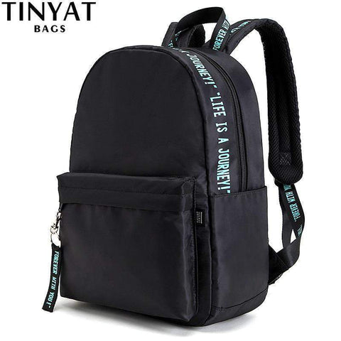 TINYAT Women School Bag Backpacks School Backpack for Teenage Girl Men Women Laptop Backpacks kanken Computer Bag Mochila Black - Handbags Specialist Headquarter