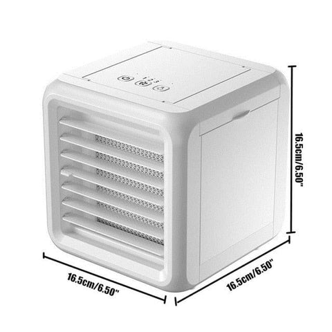 Mini Portable Air Conditioner 7 Colors Light Air Conditioning Humidifier Purifier USB Air Cooler Fan with 2 Water Tanks for Home