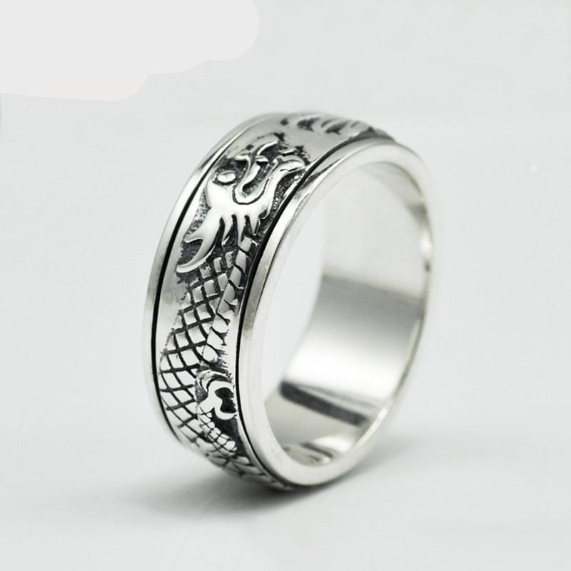 Silver Dragon Ring - Handbags Specialist Headquarter