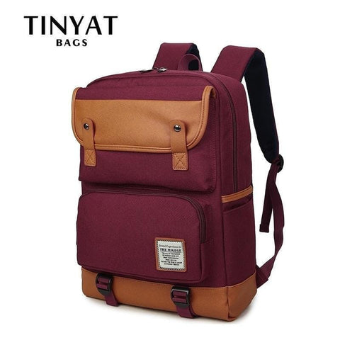 TINYAT Large Women School Backpack Bag for Teenage Mochila Female Shoulder Daypacks laptop backpacks for 15 inch Computer Unisex - Handbags Specialist Headquarter