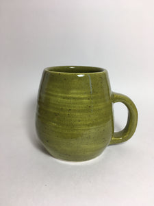 Pitter Pottery - Small Green Handled Mug