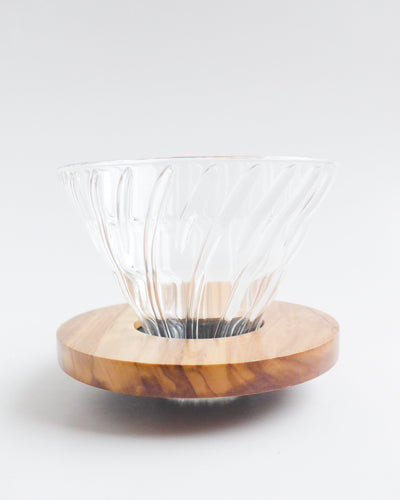 Hario - V60 02 Glass and Olive Wood