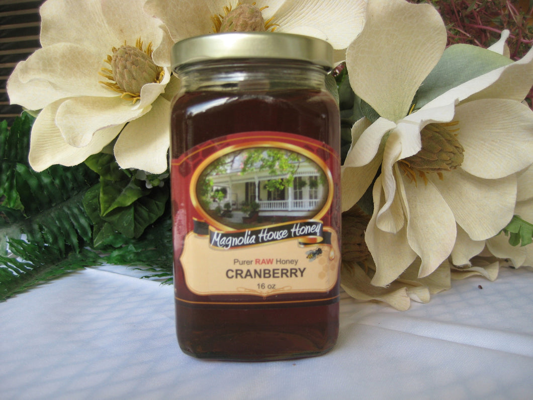 Cranberry Honey 16oz - Magnolia House Honey