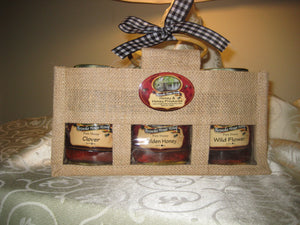 THREE HONEY JUTE BAG