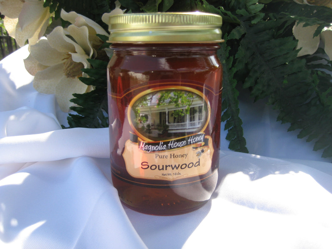 Sourwood Honey 16oz - Magnolia House Honey
